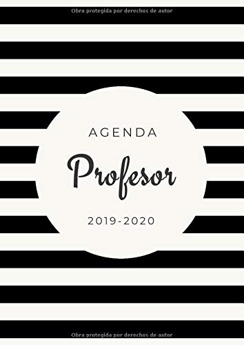 Agenda Profesor 2019-2020: Agenda Escolar para Maestros |...