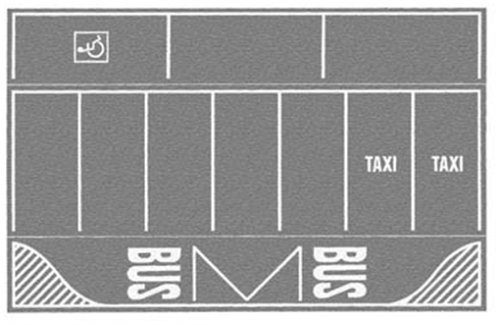Noch-Parking-Gris-220 X 140 Mm-2 Pièces, 60720