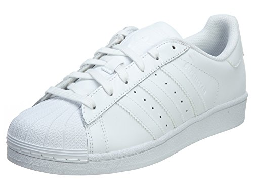 adidas Originals Kids' Superstar Sneaker, White/White/White, 5.5