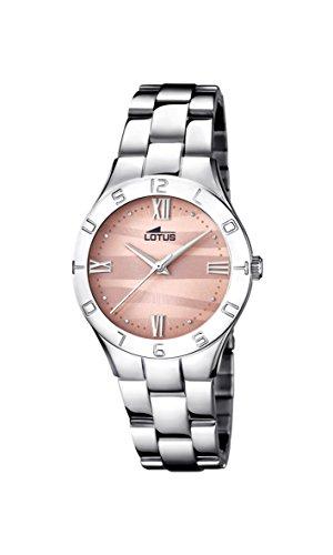 Lotus Watches Reloj Análogo clásico para Mujer de Cuarzo con Correa en Acero Inoxidable 15895/5