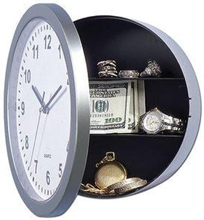 SECRET WALL CLOCK SAFE  DISCREET  HIDE VALUABLES  HINGED DESIGN