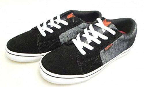 Vox Skateboard Schuhe Shovelhead Schwarz/Raw Denim/Weiß, Schuhgrösse:42.5