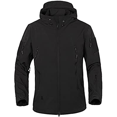 Black Tactical Army Hooded Hoodie Military Combat Fleece Jacket New