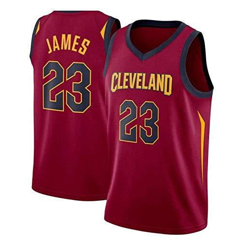 LCY Camiseta de Baloncesto de los Hombres - Cavaliers NBA Jersey # 23 James Retro sin Mangas Transpirable Fitness Deportivo Camisetas Aficionados Uniforme de Baloncesto
