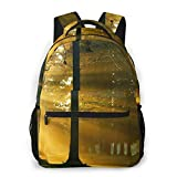 LNLN Mochila Casual para niñas Sunset Sunlight Throw Forest Laptop Backpack School Backpack for Men Women Lightweight Travel Casual Durable Daily Daypack College Student Rucksack 11 5in X 8in X 16i