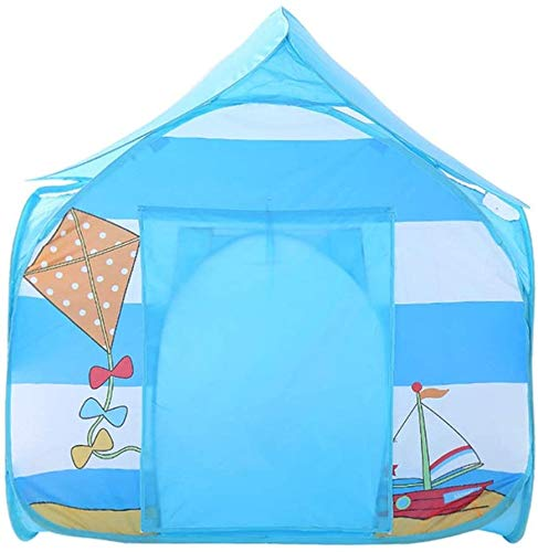 Children's Toys, Camping Tent House Dollhouse Games Indoor and Outdoor Games Outdoor Tent Single Four Corners of The House Play House,Blue