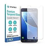 smartect Cristal Templado para Móvil Samsung Galaxy J5 2016 [2 Unidades] - Protector de pantalla 9H - Diseño ultrafino - Instalación sin burbujas - Anti-huella