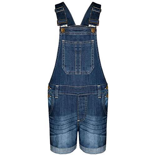 A2Z 4 Kids A2Z 4 Kids® Kinder Mädchen Denim Stretch Latzhose - Girls Shorts Dungaree Dark Blue 13