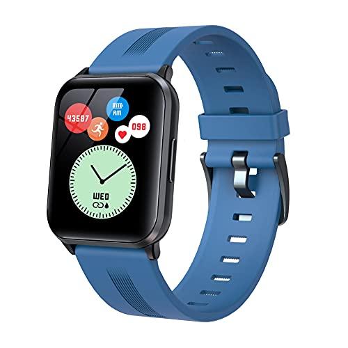 Reloj Inteligente para Hombres, Mujeres, rastreador de Ejercicios, Monitor de presión Arterial, medidor de oxígeno en Sangre, Monitor de frecuencia cardíaca, IP67, Resistente al Agua