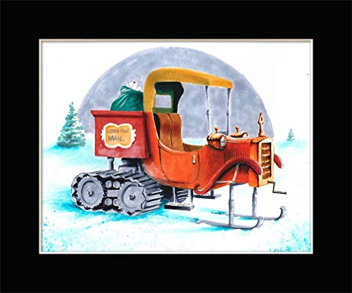 SANTA CLAUS IS COMING TO TOWN MAIL TRUCK Poster Print