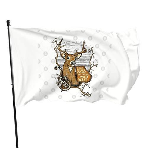 None/Brand Georgia Hirschflagge Jagdflagge, Banner, 91 x 152 cm