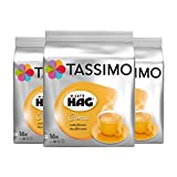 Tassimo Café HAG Crema Decaffeinated, Pack of 3, 3 x 16 T-Discs