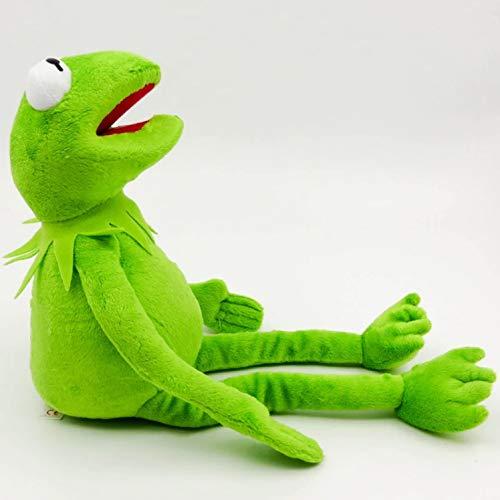 Intervic Peluche muñeco de Felpa de la Rana Gustavo Los Teleñecos Kermit Peluche de Animal Suave Adorable 40 cm Regalo Juguetes para niños y niñas