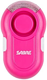 SABRE Personal Alarm with Clip-on & LED Light – Extremely Loud Lab Tested 120dB Alarm, Audible up to 600 Feet (185M) Away, Clips Easily to Running Gear – Stay Visible at Night with LED Light