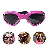 Namsan Hundebrille Verstellbarer Riemen Schutzbrille für Hunde Wasserdicht Winddicht Hunde Sonnenbrille -Pink