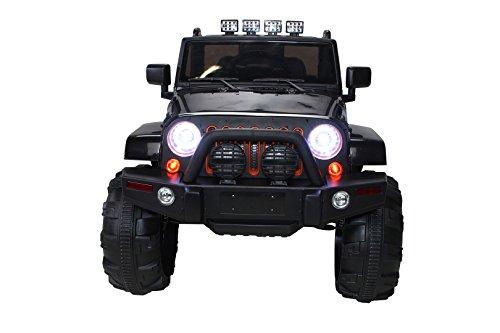RC Auto kaufen Kinderauto Bild 2: Actionbikes Motors Kinder Elektroauto Offroad Jeep 2 x 35 Watt (Schwarz)*