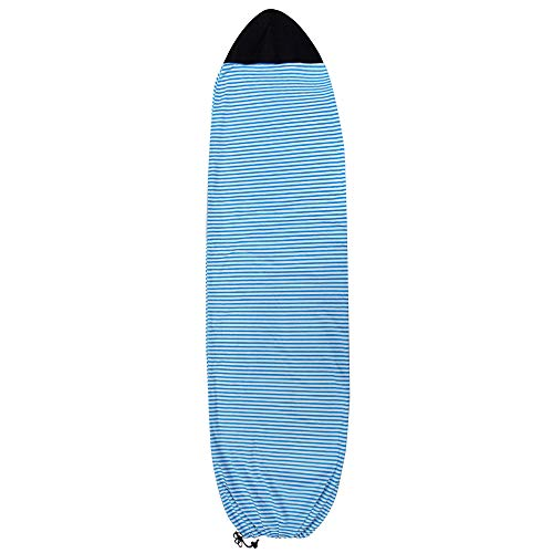 Cobeky Surf Board - Funda protectora para tabla de surf, diseño de rayas, color azul y blanco