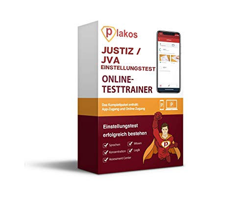 Justiz / JVA Online Testtrainer: Interaktive und authentische Aufgaben und Tests aus den Bereichen Sprache, Konzentration, Allgemeinwissen und Logik | Vorbereitung auf den Einstellungstest | Training