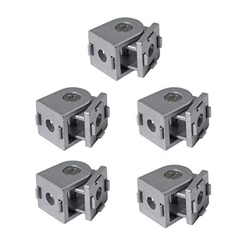Lenere Conector giratorio de 5 piezas de aleación de cinc para perfil de extrusión de aluminio de la serie 2020, conexión giratoria flexible para perfil de aluminio 2020.