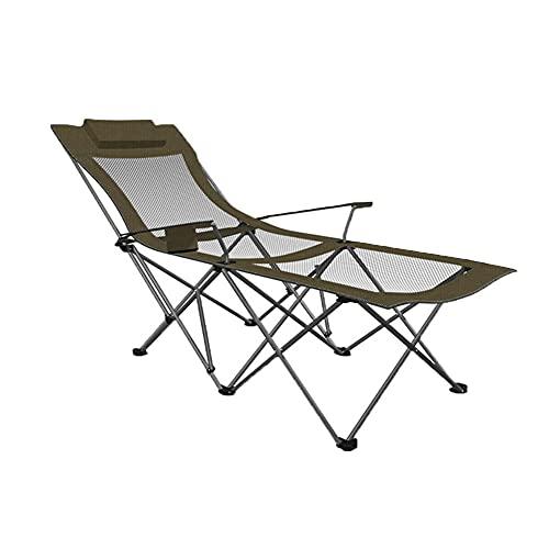 ZHUOZI Silla Playa Sillas Plegables de Cubierta, sillas de Camping portátil, sillas de Cubierta Pesada, utilizadas para Playas de Pesca de Camping y picnics (Color : Green C)