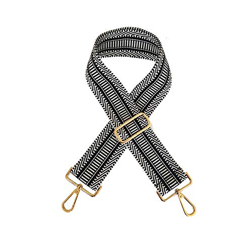 Umily Breiter Schultergurt Verstellbarer Ersatzgürtel im Gitarrenstil Cross Body Handtasche Geldbeutelriemen