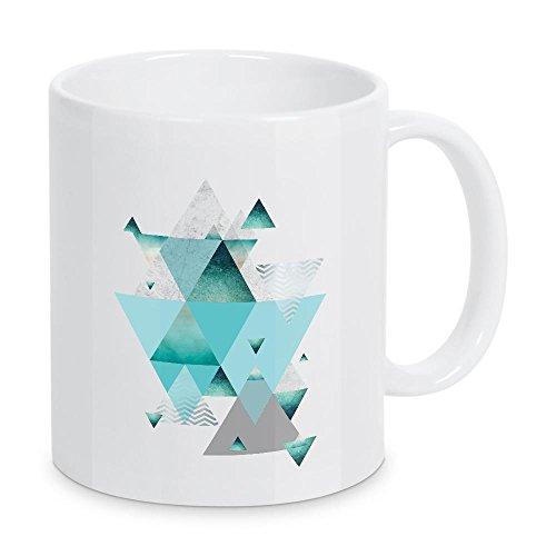 artboxONE Geometric Luxe - Taza de café con geometría en turquesa de Urban Epiphany