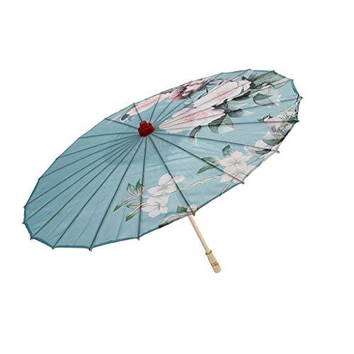 LOVIVER Paño De Seda Hecho A Mano Chino Oriental Paraguas Danza Parasol Boda Foto Prop - 9