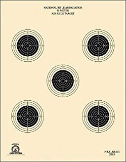 Official NRA, Shooting Target, AR 5/5, 10 Meter, Air Rifle, Tag Board