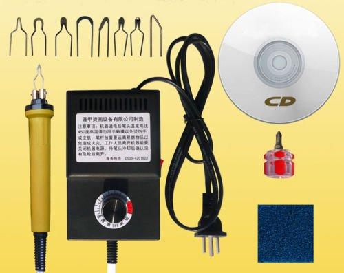 Eleoption - Pirografo, 25W, artigianato, multifunzione, con kit accessori, 220V