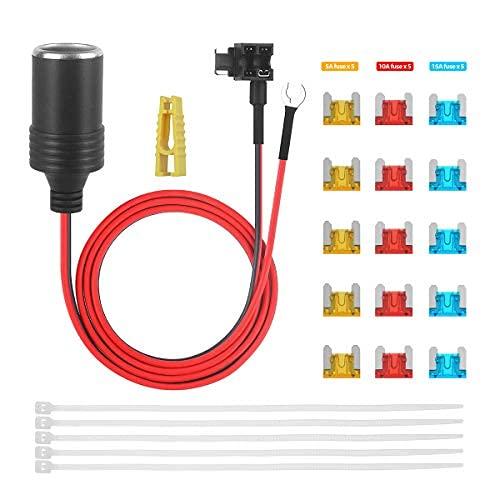 voiture allume-cigare prise 12v 1m extension fusible TAP Circuit adaptateur câble de connexion avec porte-fusible pour Mini lame fusibles
