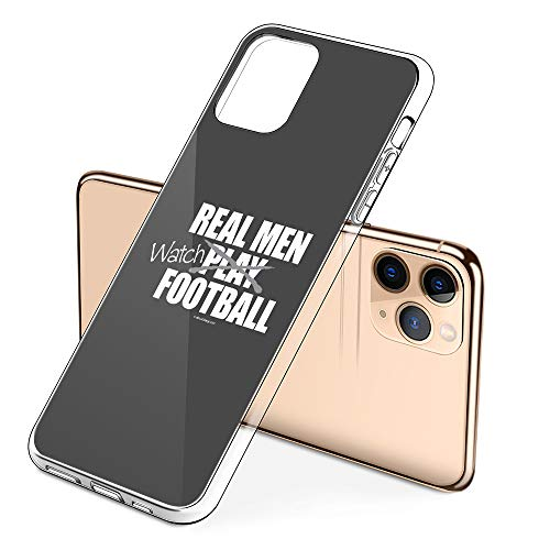 Premium iPhone 11 Phone Cases with Real Men Watch Football Design on Protective PC Hard Back, The Best Essential Accessories