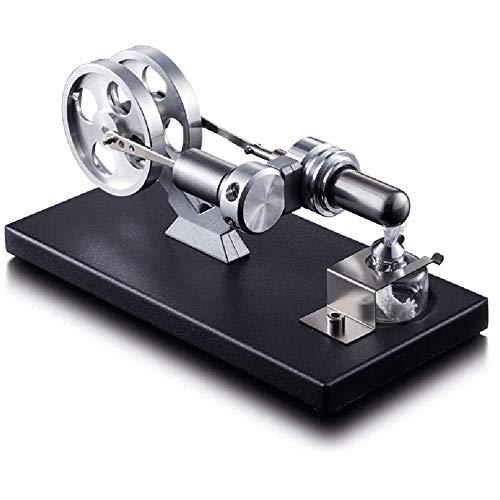 Kit de motor Stirling, motor de motor Stirling, rueda de doble flash Metal Miniatura Miniatura Máquina de combustión Máquina de vapor, herramienta de presentación para lecciones científicas,A