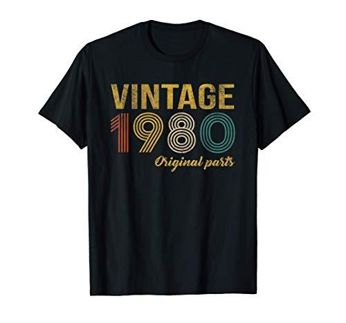 Vintage 1980 Regalo Original Hombre 41 Años Cumpleaños Mujer Camiseta
