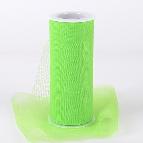 "Fluorescent Green Tulle Roll Spool 12""x25 yards (12""x75"") Tutu Wedding Gift Bow Good Crafted Decoration and DIY Ideas"