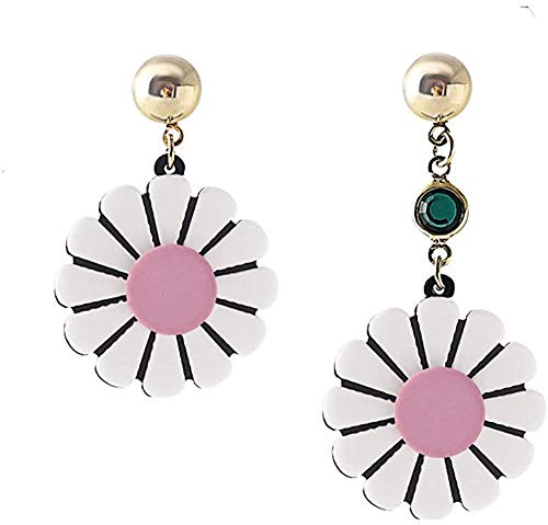 Earring Earrings are exquisite fashion popular classic temperament long asymmetrical girl with sweet flower
