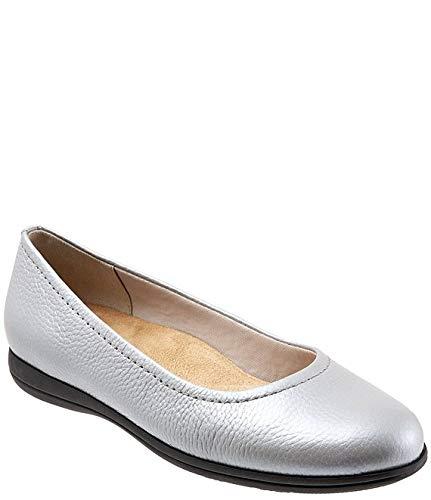 [トロッターズ] シューズ 22.0 cm スリッポン・ローファー Darcey Leather Ballet Flats Silver レディース [並行輸入品]