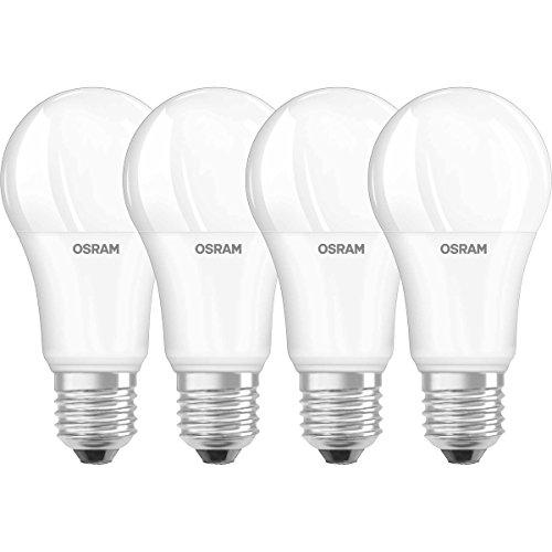 Osram LED SuperStar Classic A Lampe, in Kolbenform mit E27-Sockel, dimmbar, Ersetzt 100 Watt, Matt, Warmweiß - 2700 Kelvin, 4er-Pack