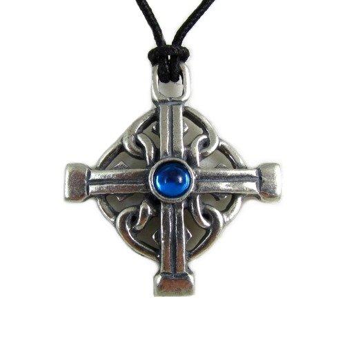 Myrddin Knot Celtic Mystery Pewter Pendant on Corded Necklace