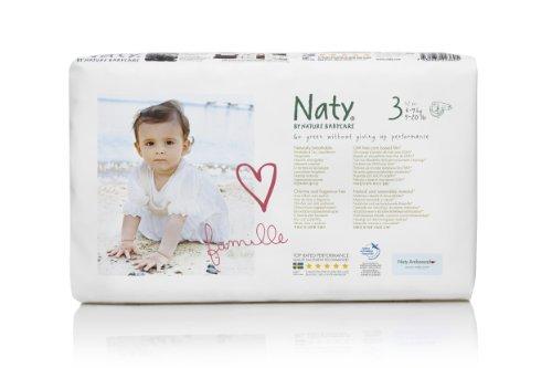 Naty by Nature Babycare Ökowindeln - Größe 3, 4-9 kg, 1er Pack (52 Stück)