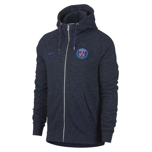 Nike Herren PSG M NSW Hoodie FZ FT AUT Paris Saint-Germain Kapuzenjacke, Obsidian Heidekraut/Hyper Kobalt, L