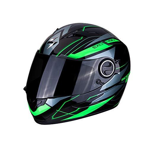 Scorpion 49-2859-05 Casco de motocicleta Exo-490Nova Black-Green, negro y verde, L