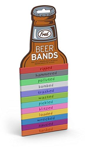 Fred y amigos cerveza bandas marcadores de bebida–bombardeado