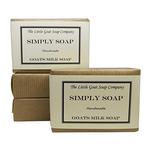 4 x Simply Goats Milk Soap. Unscented 100g. Sensitive Skin. Eczema,...