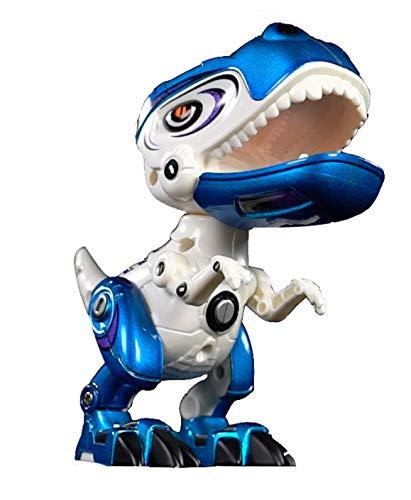 Toy Lob 恐竜 おもちゃ フィギュア トイ ダイナソー ロボット キッズ 子供玩具 知育玩具 大迫力 発声 発光 ペン立て スマホスタンド 模型 プラモデル 玩具 オモチャ グッドデザイン プレゼント (ブルー)
