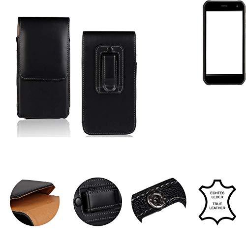 K-S-Trade® Holster Gürtel Tasche Für Cyrus CS 40 Handy Hülle Leder Schwarz, 1x