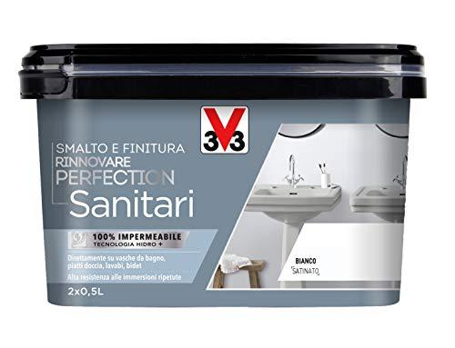 V33 Smalto Rinnovare Perfection Sanitari Bianco Satinato 2x0.5 l