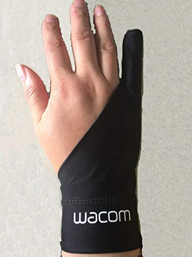 GBSTA Wedding Gloves Black 1 finger anti-fouling gloves wacom drawing writing painting digital tablet glove Zwart Zwart