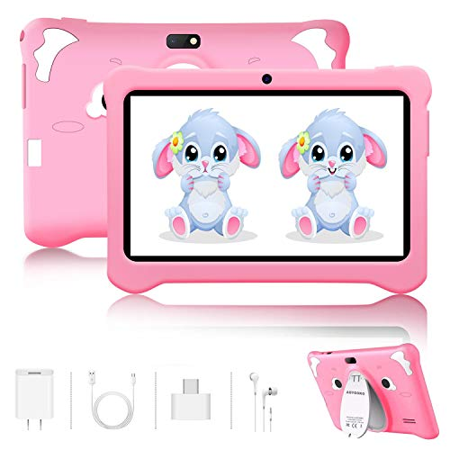 Tablet para Niños Android 9.0 Pie 7 Pulgadas HD Pantalla 3+32GB/128GB de Expansión Tableta Infantil WiFi Bluetooth Dual Camera 5+2MP Entertainment Education(Google Play)
