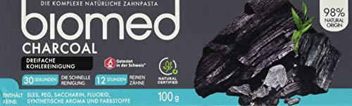 biomed Charcoal natürliche Aktivkohlezahnpasta, 100 g