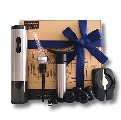 Sacacorchos Eléctronico, Abridor de Vino Electronico, Abrebotella con Bomba de Vacío, Sacacorcho Valira,Set de Vino,Idea para Regalo